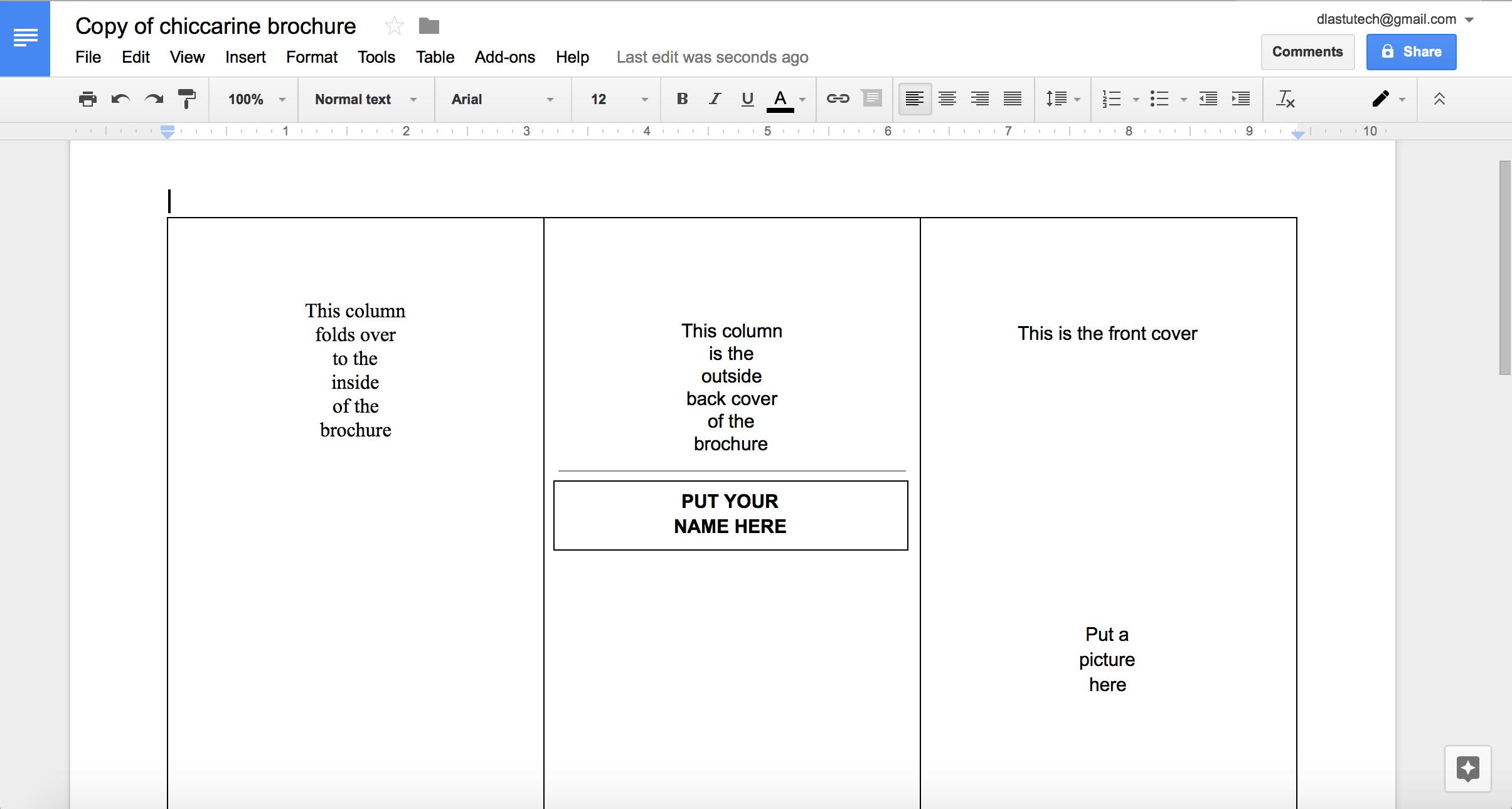 001 Brochure Templates Google Luxury Tutorial Making Using With Regard To Brochure Template Google Drive