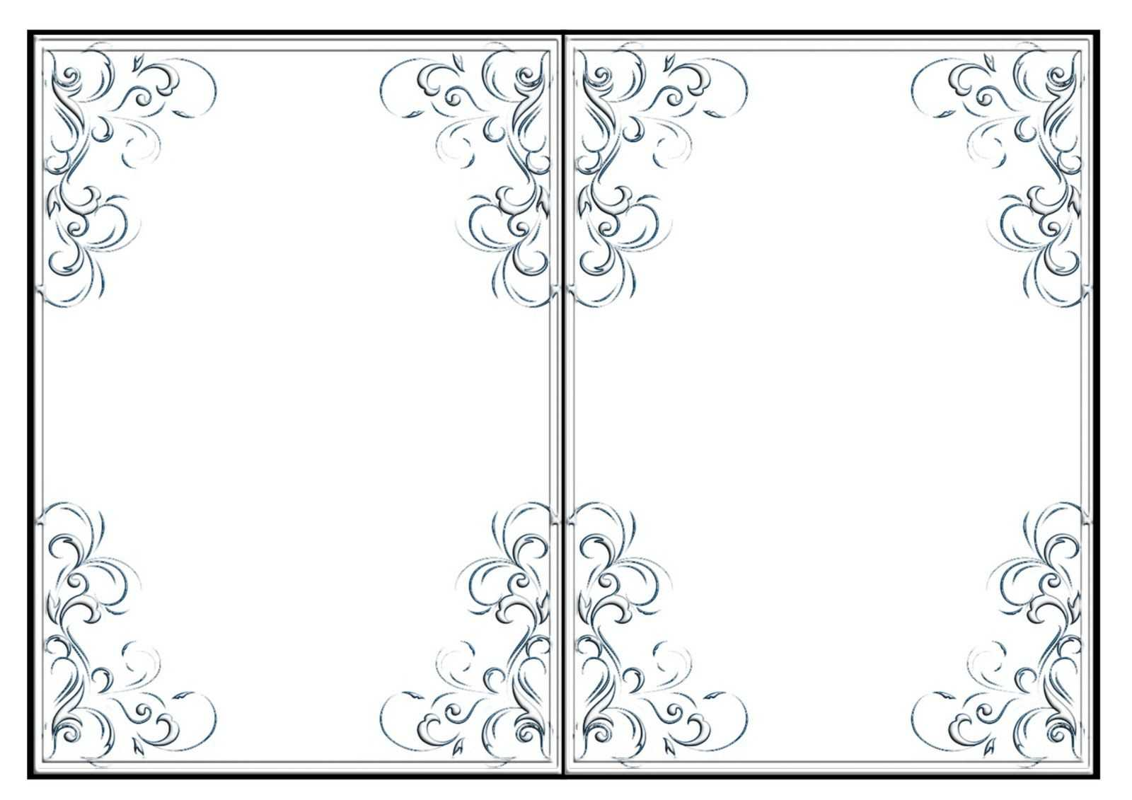 002 Free Printable Quarter Fold Card Template Imnettle Pertaining To Quarter Fold Card Template