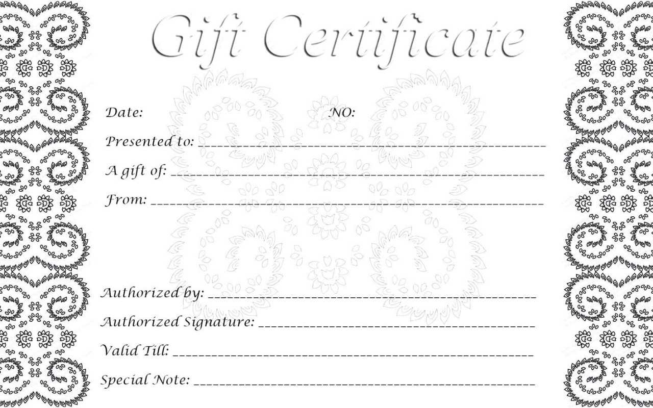 002 Gift Card Template Free Download Ideas Printable Cards intended for Black And White Gift Certificate Template Free