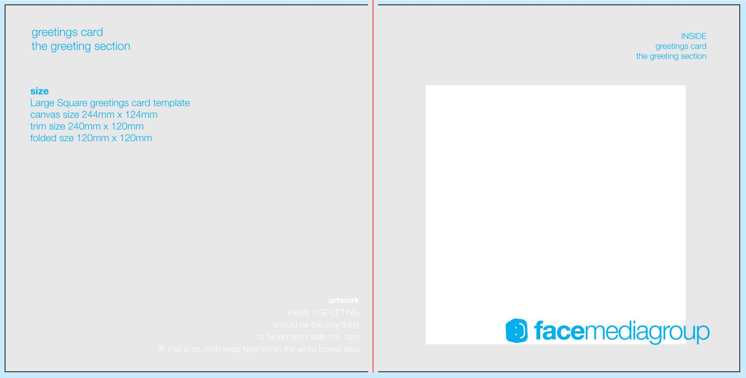 002 Quarter Fold Card Template Photoshop Indesign Greeting intended for Birthday Card Template Indesign