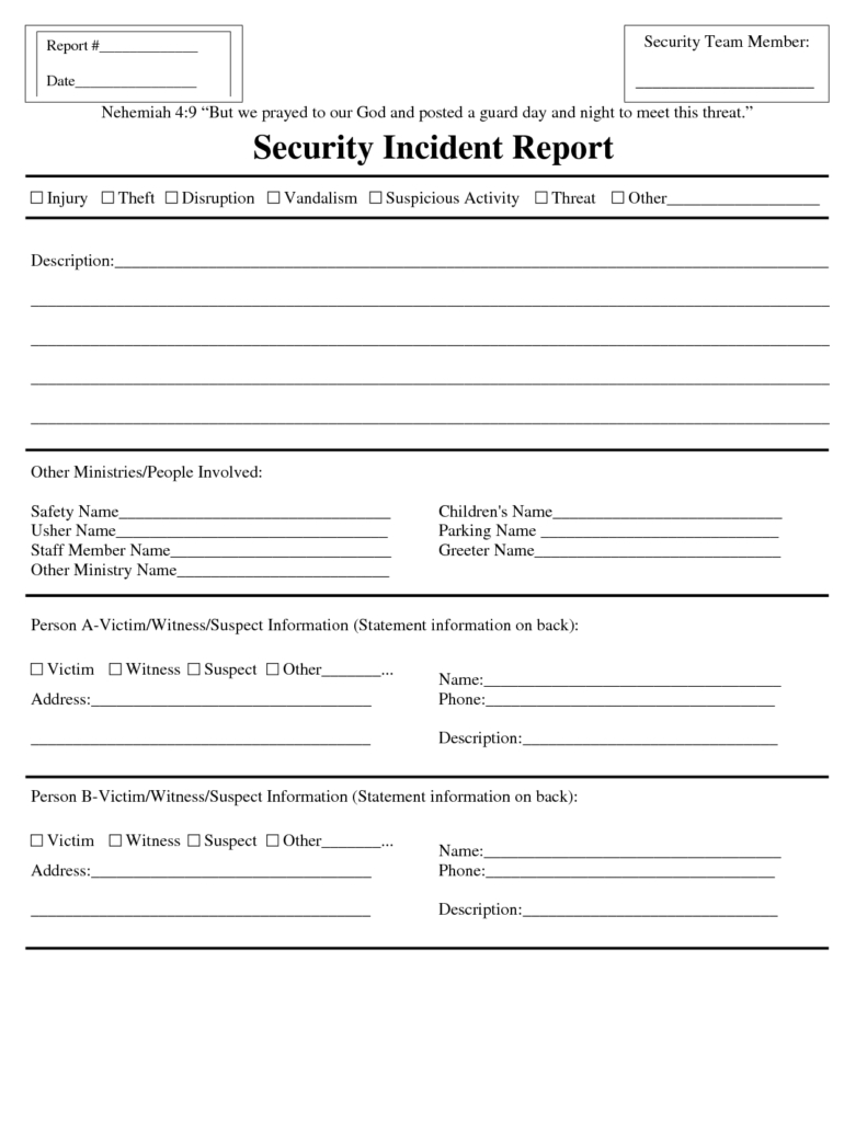002 Securitydent Report Form Template Word Ideas Sample pertaining to Simple Report Template Word