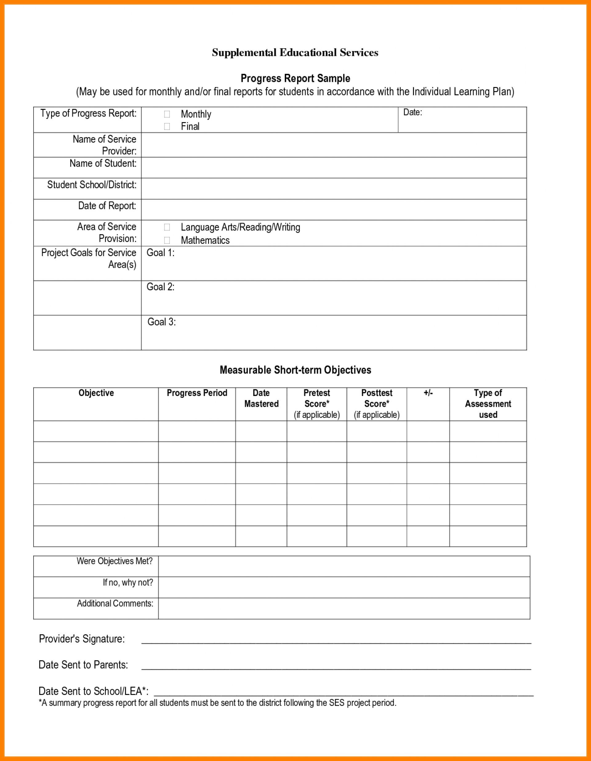 002 Student Progress Report Template Beautiful Ideas Sample throughout School Progress Report Template