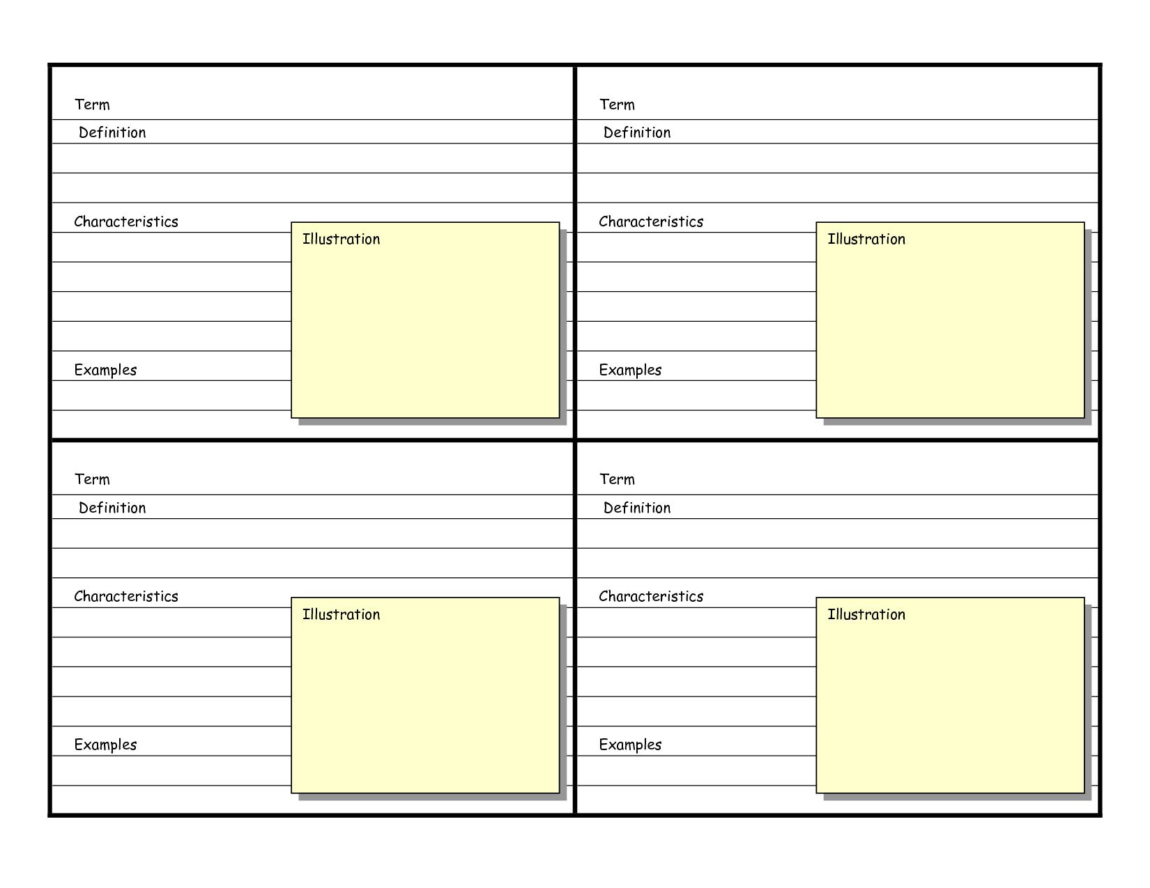 Cue Card Template Word  Best Sample Template Design In Cue Card Template