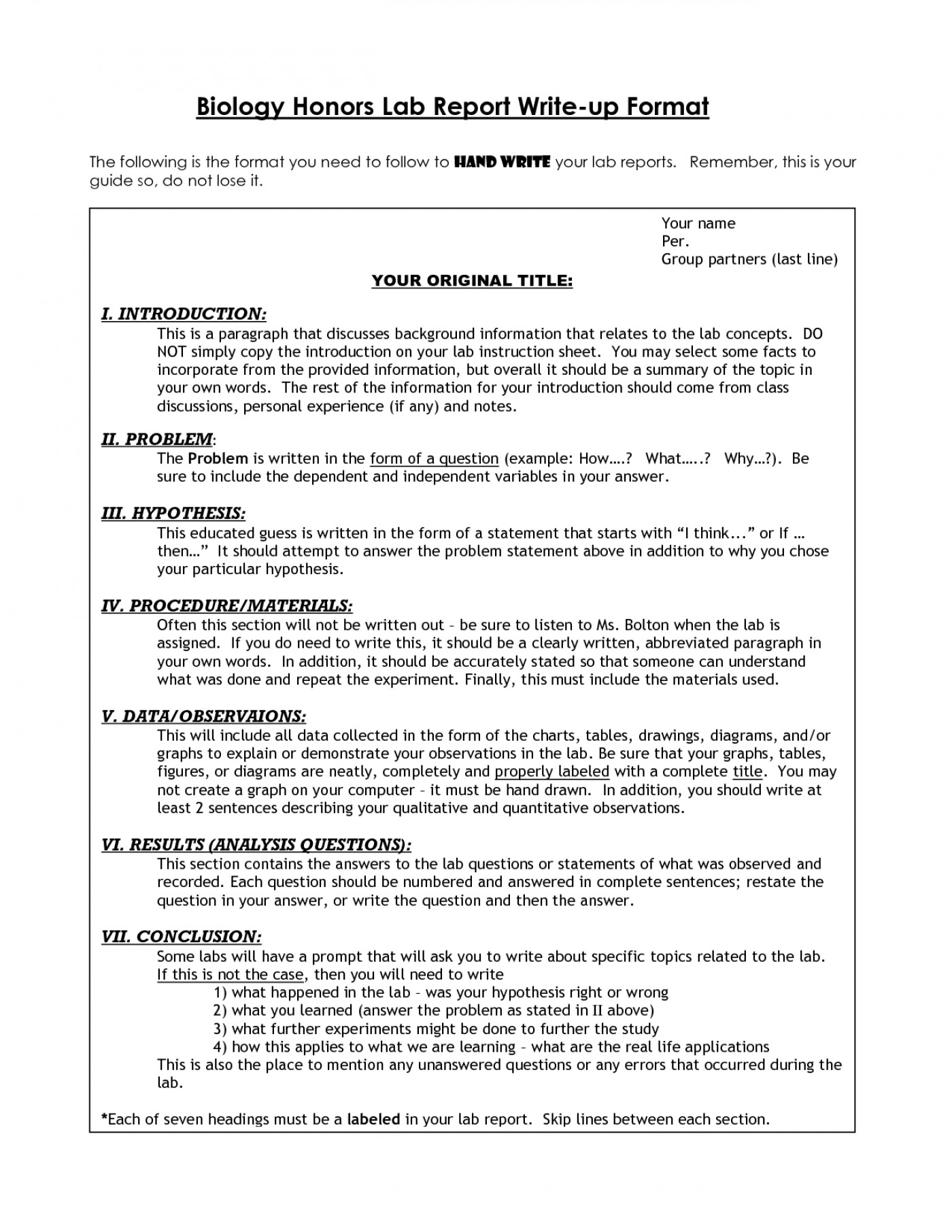 003 Biology Lab Report Template Awesome Ideas Sample Example within Biology Lab Report Template