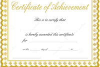 003 Certificate Of Achievement Template Free Ideas With Regard To Blank Certificate Of Achievement Template