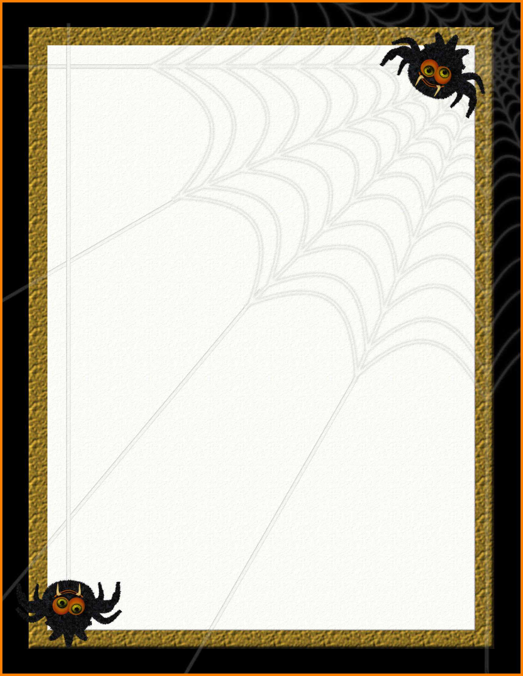 003 Halloween Word Template Free Stationery Templates 234638 within Free Halloween Templates For Word