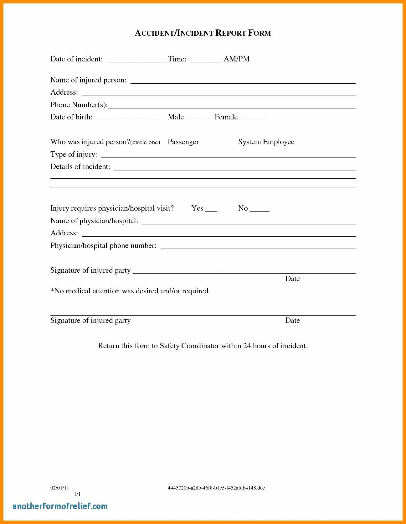 003 Template Ideas Incident Reportm Accidentms Hazard in Incident Hazard Report Form Template