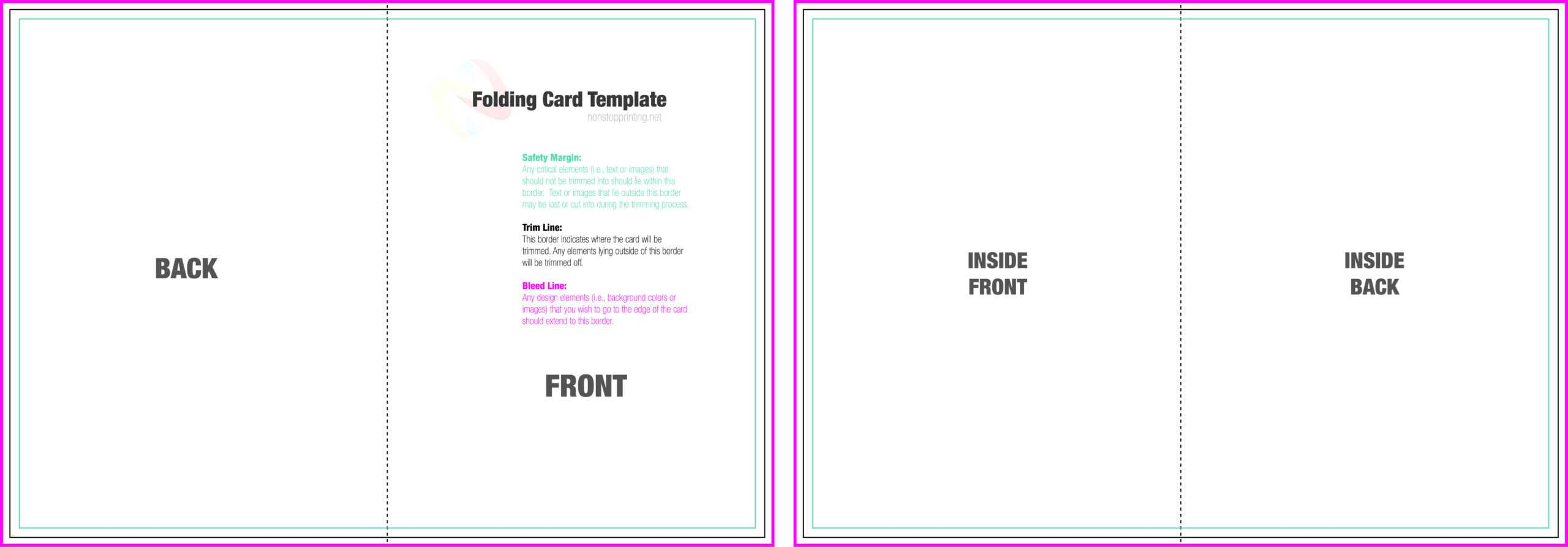 004 Blank Quarter Fold Card Template Free Ideas Greeting pertaining to Card Folding Templates Free