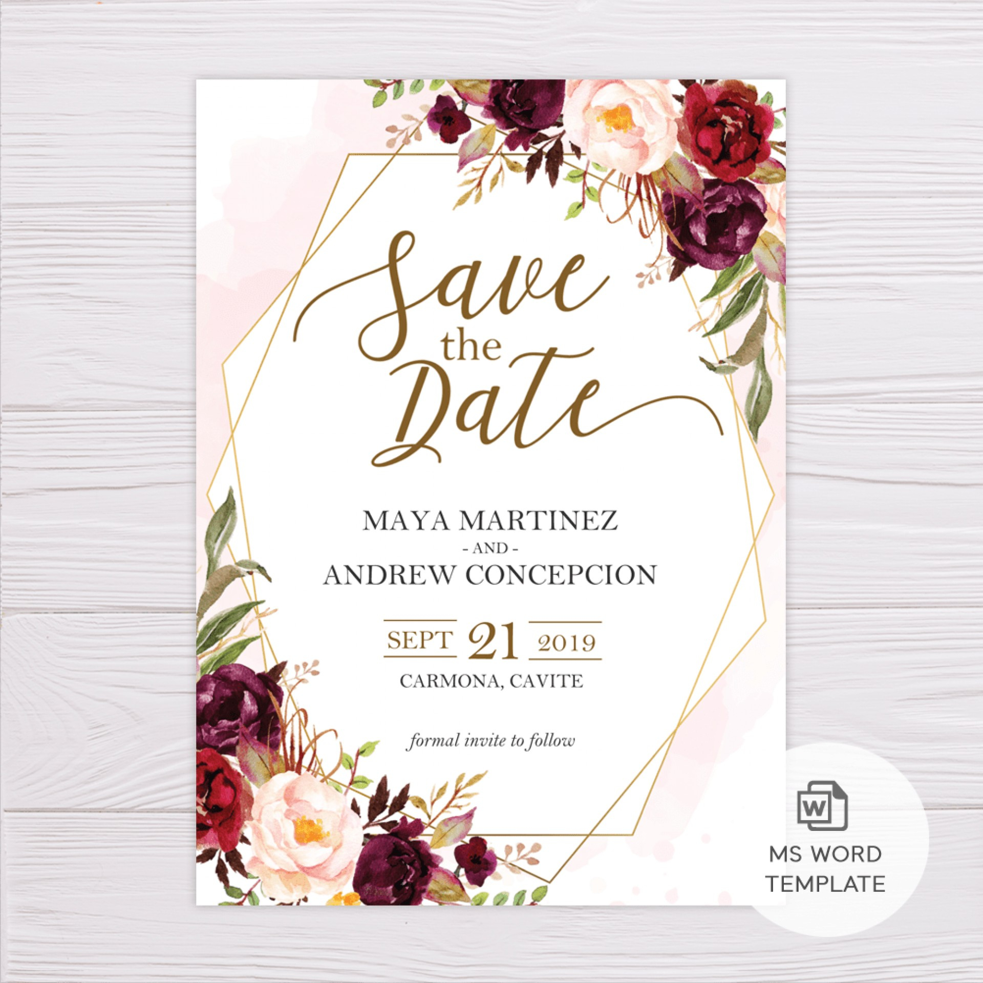 004 Save The Date Templates Word Template Frightening Ideas intended for Save The Date Templates Word