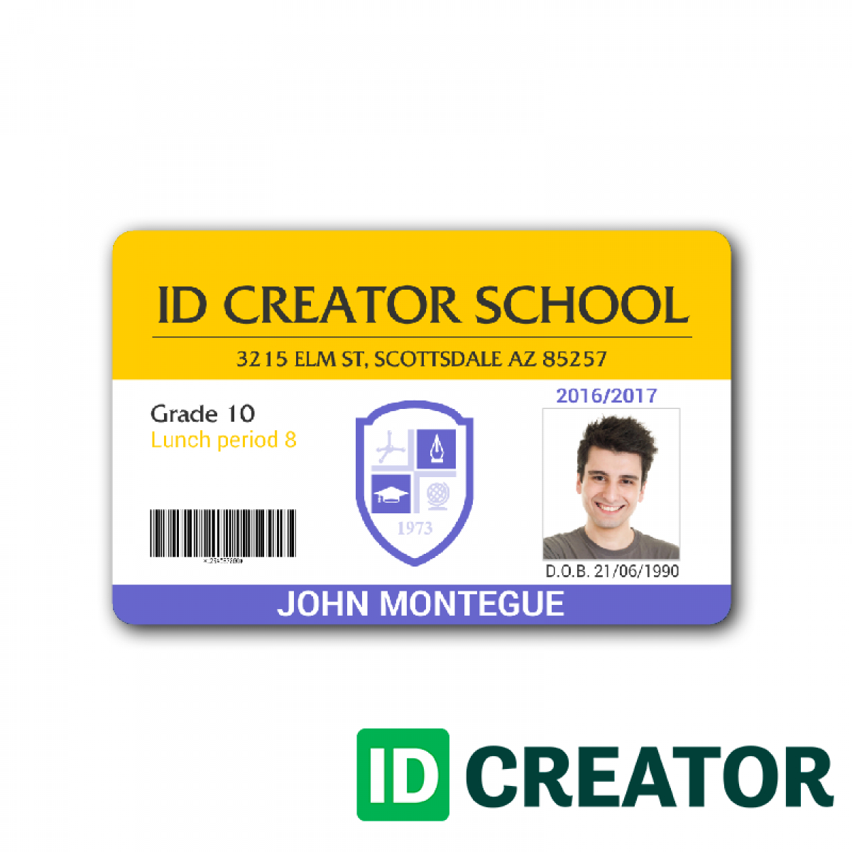 004 School Id Card Template Photoshop Marvelous Ideas intended for Teacher Id Card Template
