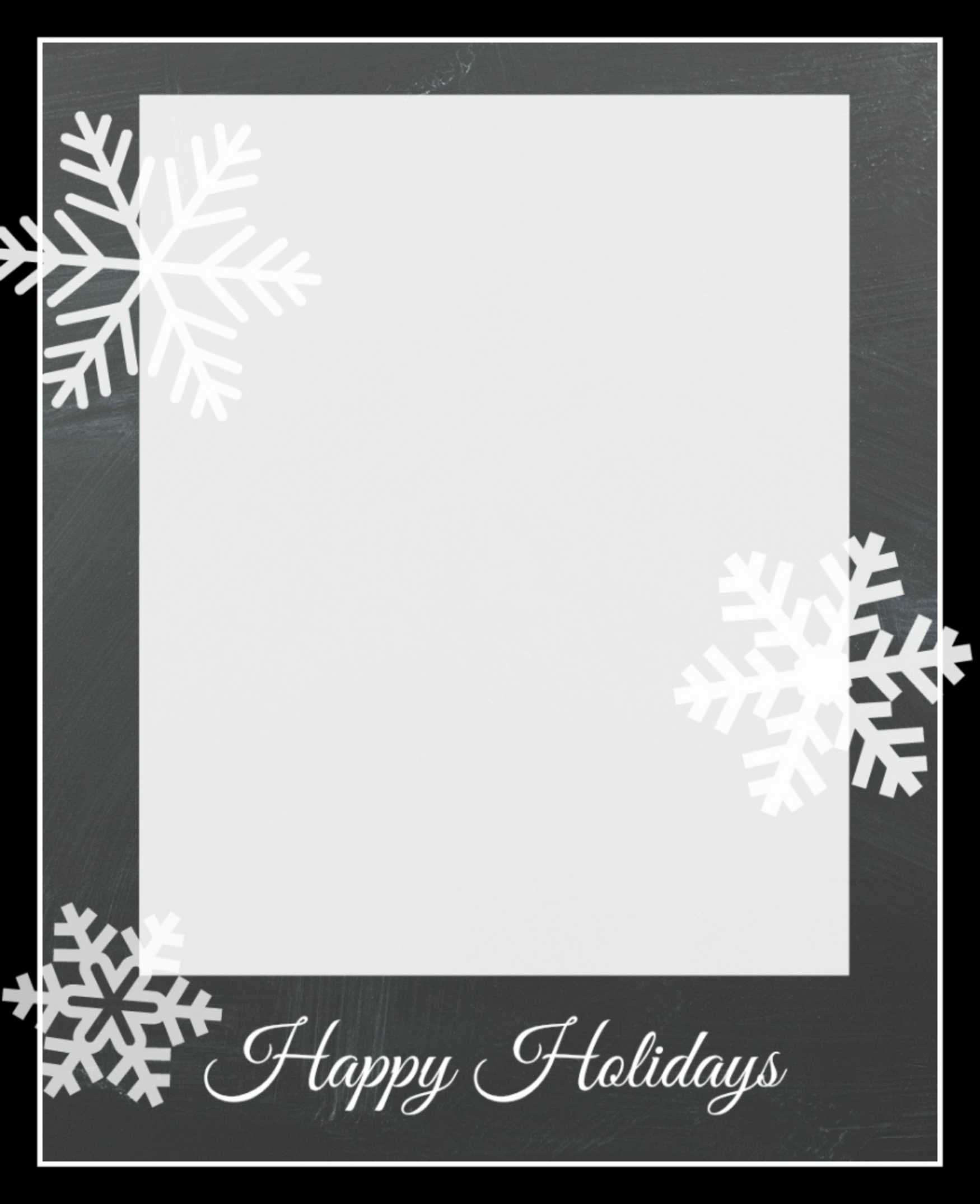 004 Template Ideas Snowflakecard3 Christmas Photo Card Best intended for Free Holiday Photo Card Templates