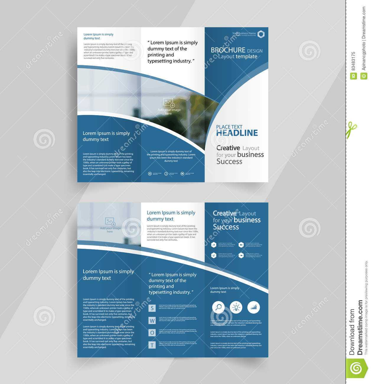 005 Business Tri Fold Brochure Layout Design Emplate Vector with regard to Tri Fold Brochure Template Indesign Free Download
