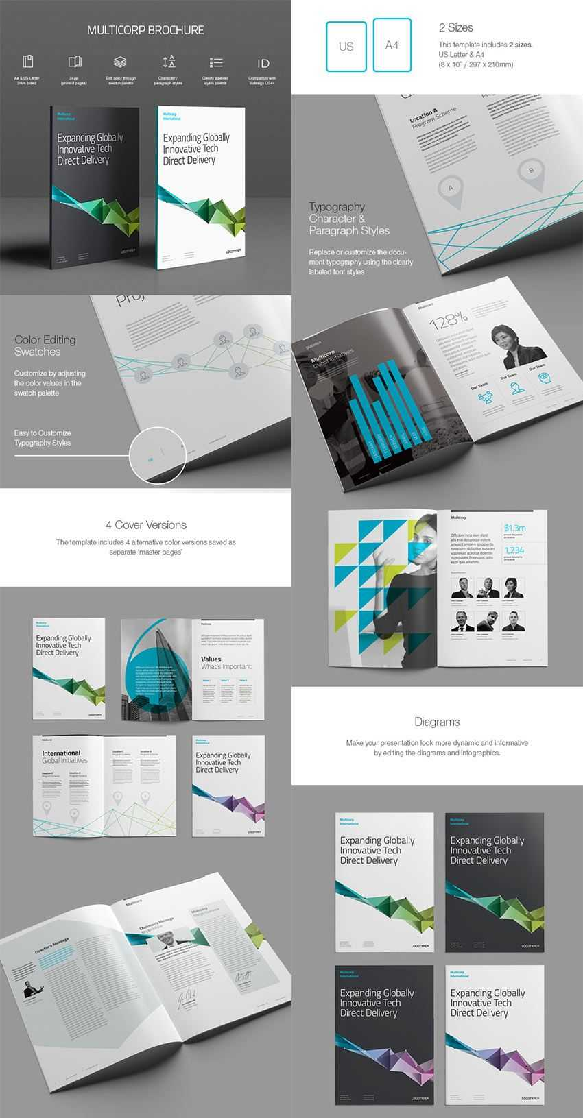 005 Indesign Brochure Template Free Stirring Ideas Corporate with regard to Adobe Indesign Brochure Templates