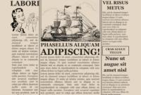 007 Free Old Newspaper Template Microsoft Word Ideas with regard to Blank Old Newspaper Template