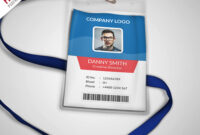 007 Template Ideas Multipurpose Company Id Card Free Psd pertaining to Free Id Card Template Word