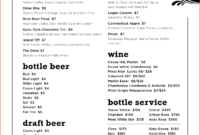 008 Template Ideas Drink Menu Microsoft Word Impressive Bar pertaining to Cocktail Menu Template Word Free
