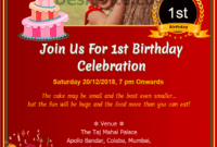 010 1St Birthday Invitation Wording Samples Customisable pertaining to First Birthday Invitation Card Template