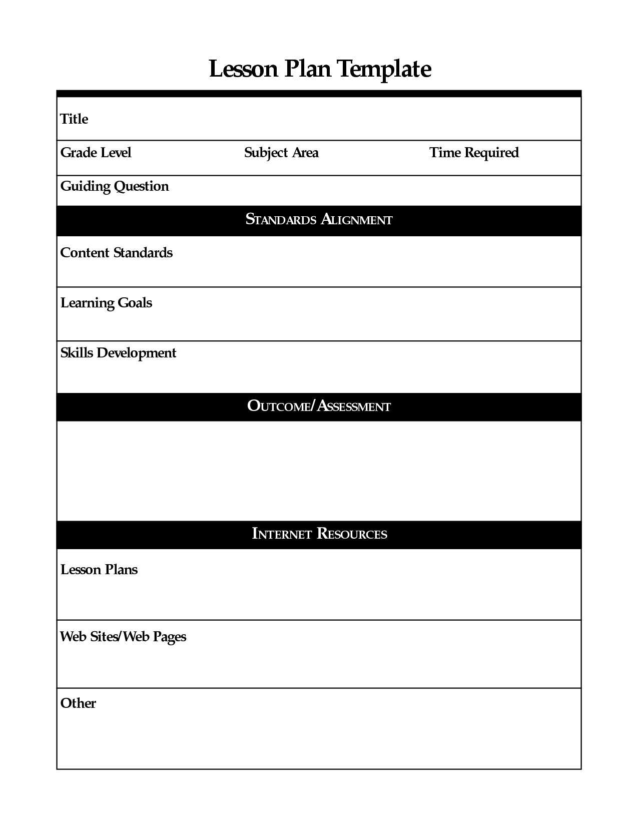012 Template Ideas Physical Education Lesson Plan Madeline within Madeline Hunter Lesson Plan Blank Template