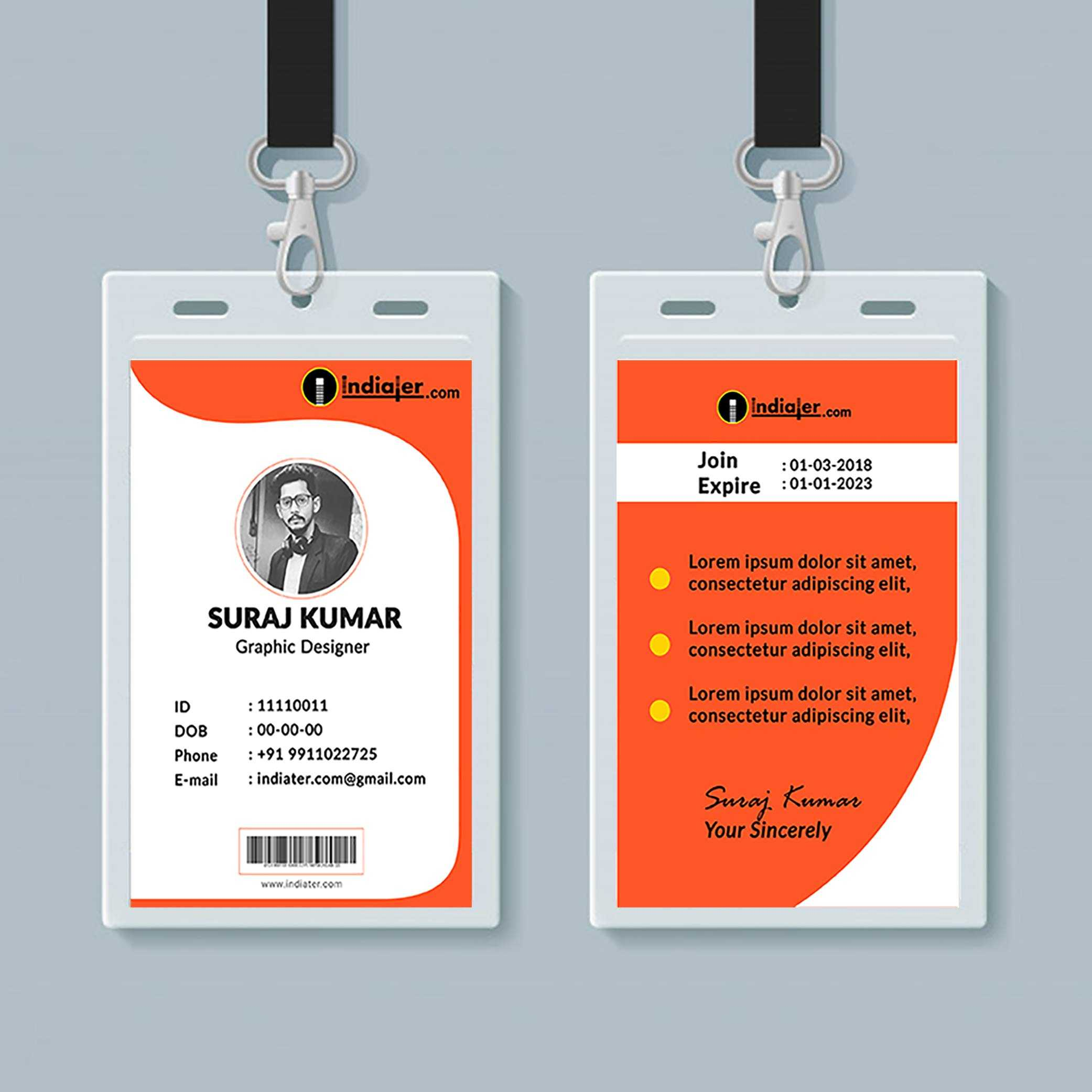 013 Student Id Card Design Template Psd Free Download Pertaining To Template For Id Card Free Download