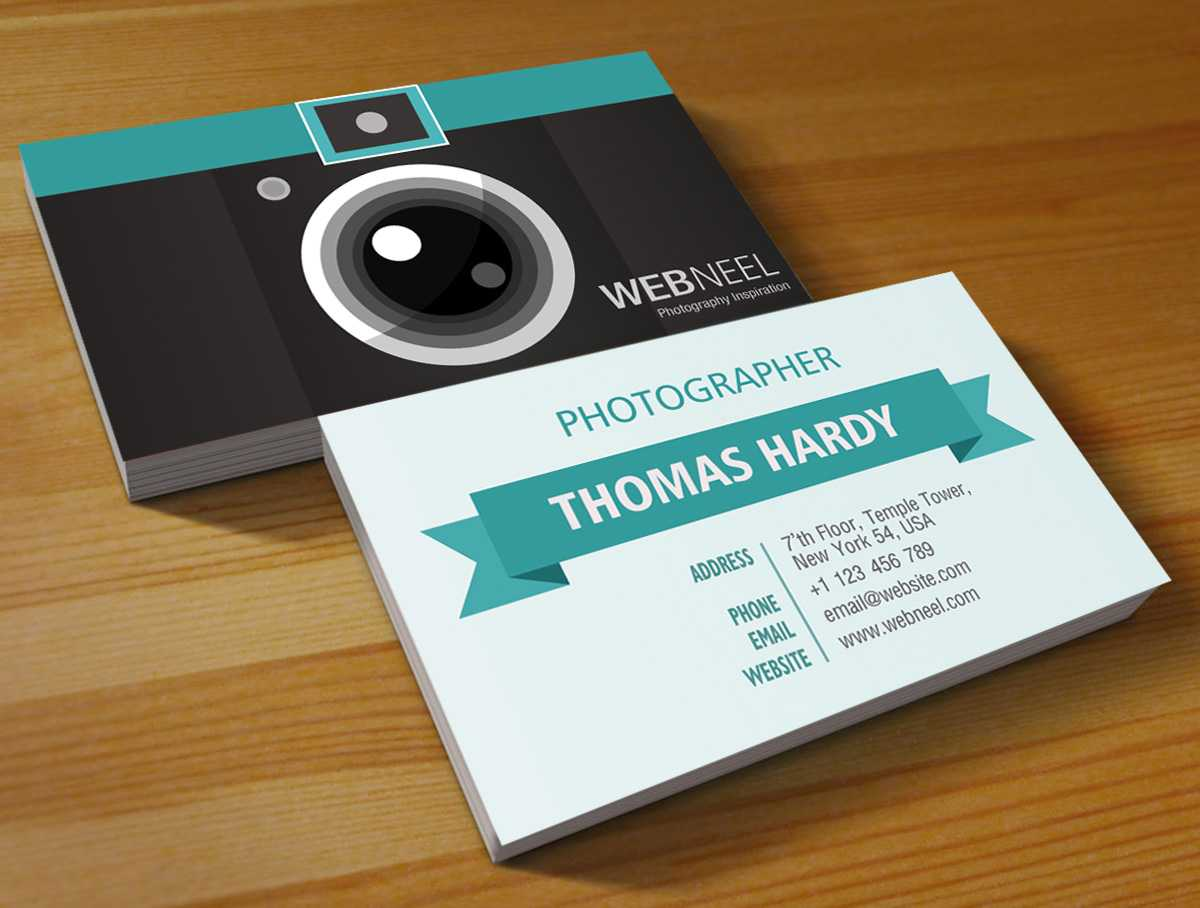 017 Free Photography Business Card On Table Templates Psd For Photography Business Card Templates Free Download
