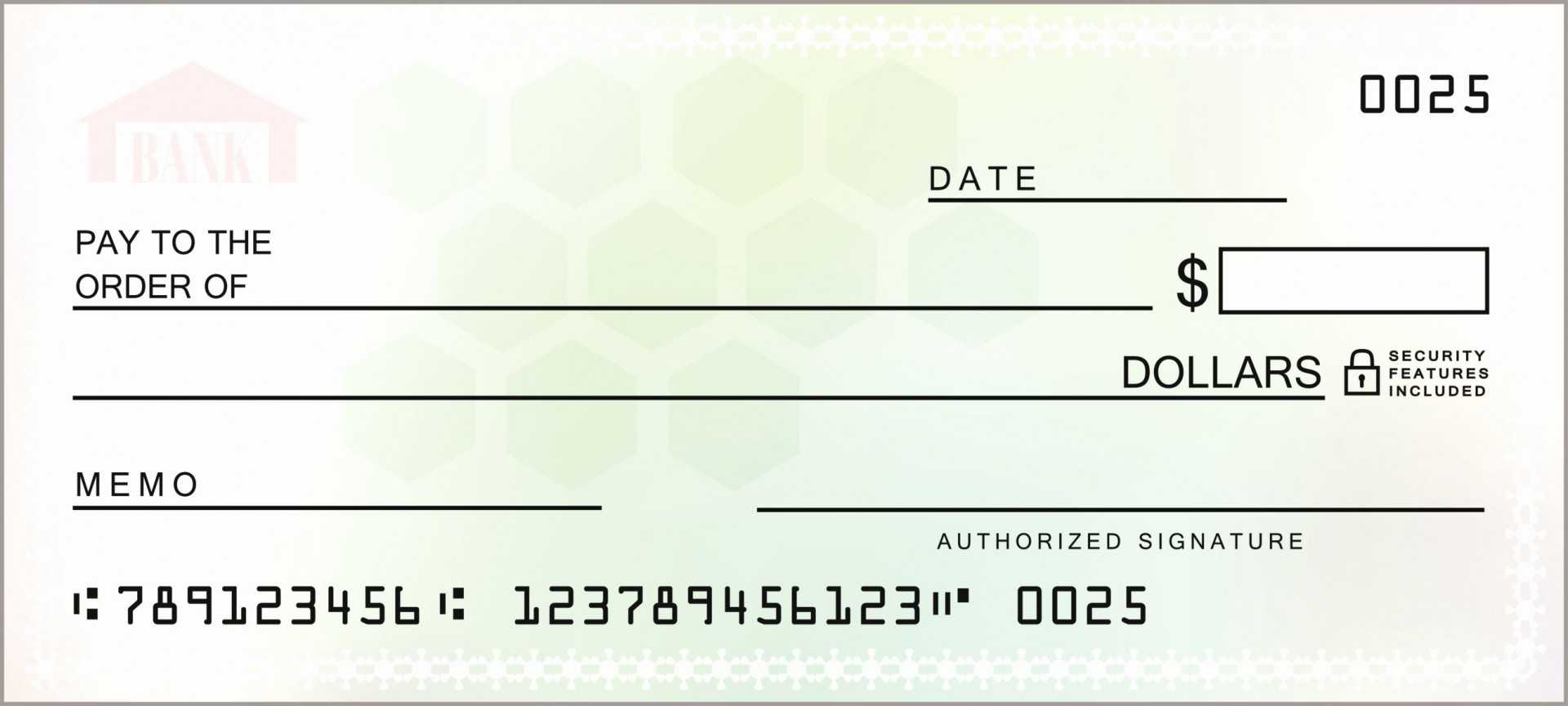 017 Stock Photo Blank Cheque Check Template Illustration Pdf inside Blank Cheque Template Uk