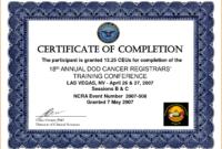 017 Template Ideas Certificate Of Training Templates For within Training Certificate Template Word Format