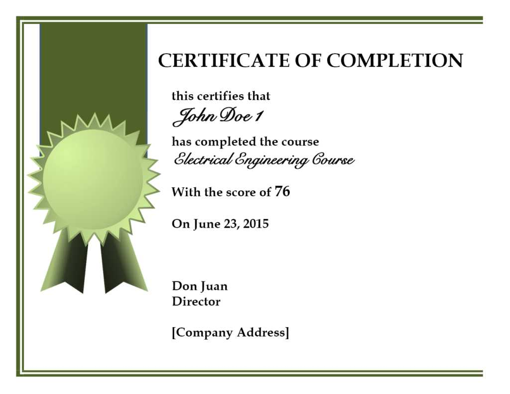 019 Certificate Of Completion Template Free Psd Best with regard to Certificate Of Completion Free Template Word