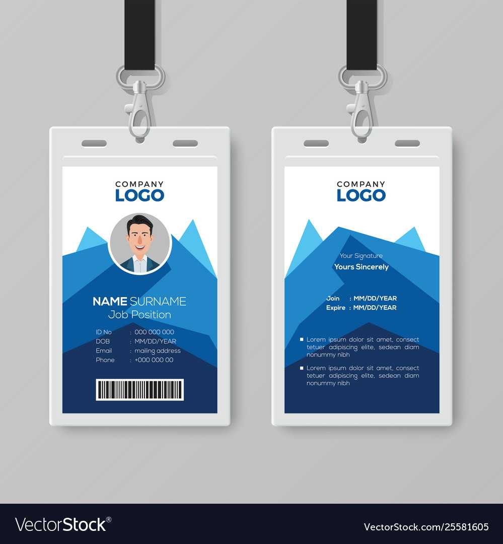 019 Employee Id Card Template Photoshop Free Download Ideas For Template For Id Card Free Download