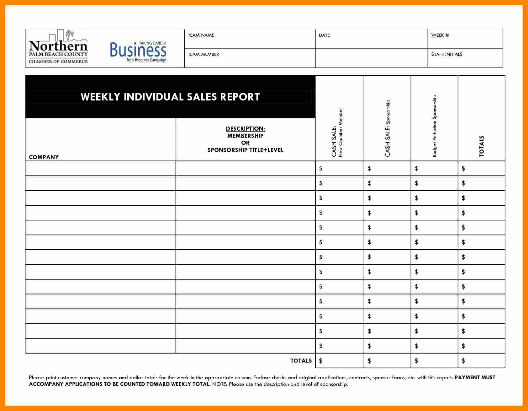 023 Template Ideas Sales Call Reporting Weekly Report in Sales Call Reports Templates Free