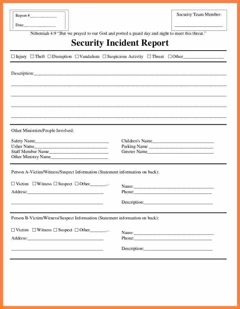 025 Template Ideas 20Fire Incident Report Form Doc Samples In Mi Report Template