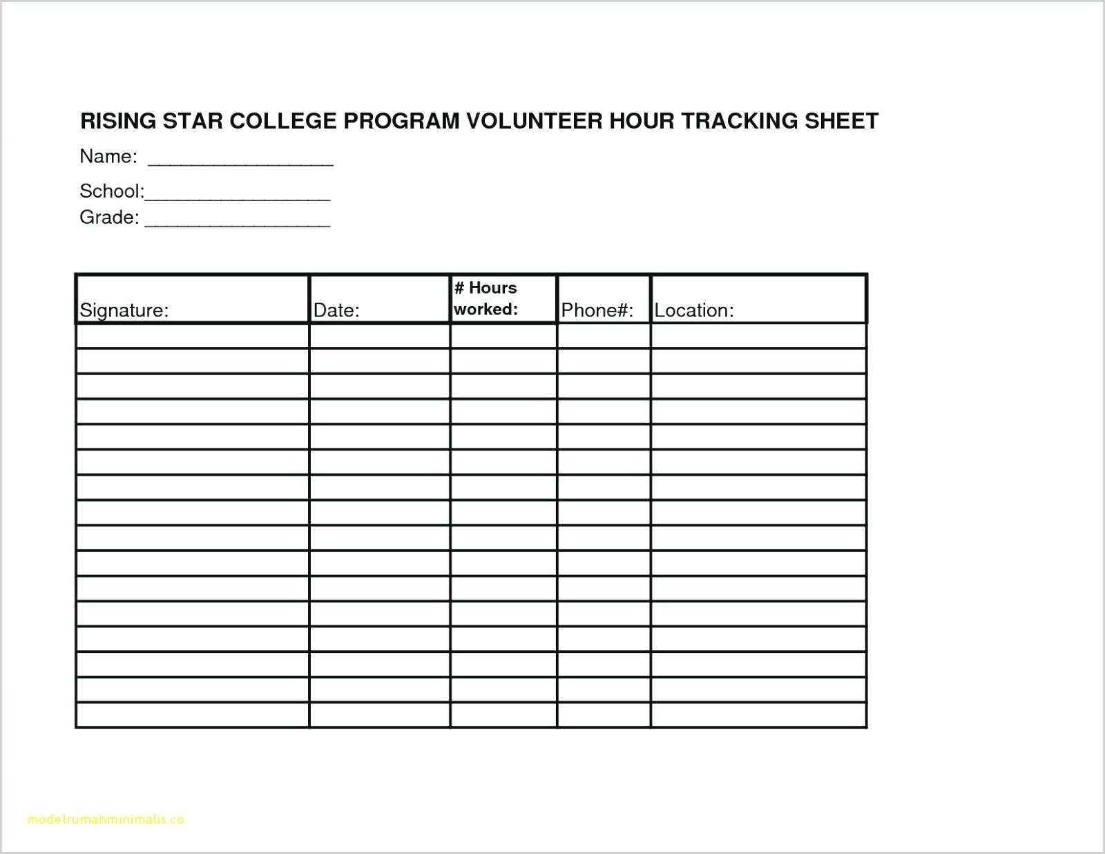 025 Volunteer Sign Up Form Template Sheet Templates Ideas Intended For Community Service Template Word