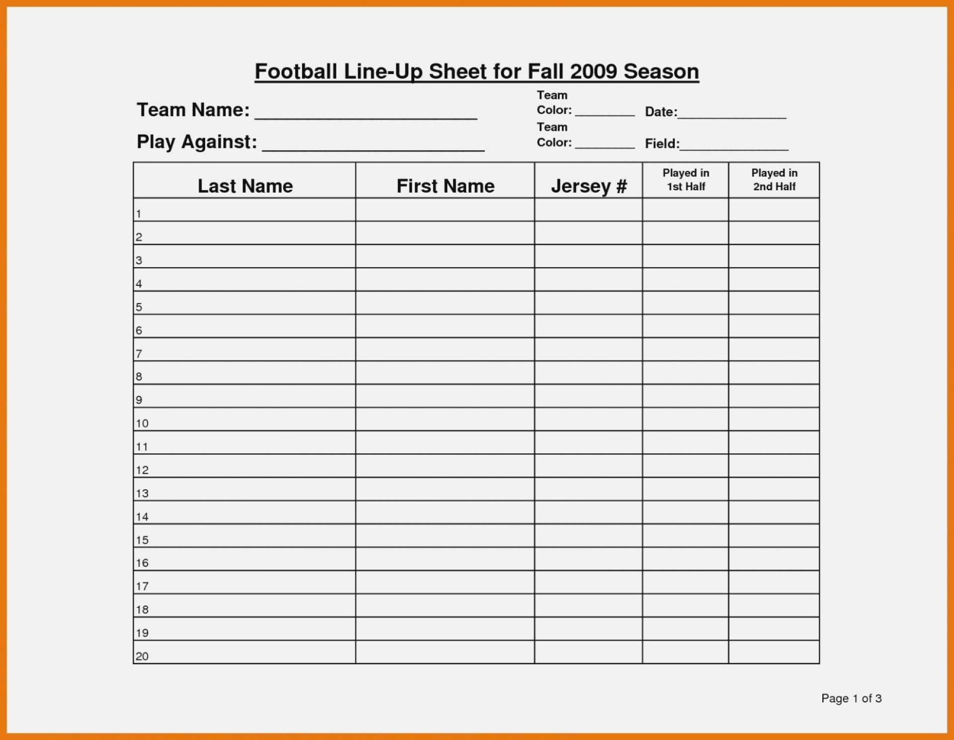 027 Football Depth Chart Template Best Ideas Editable Excel Pertaining To Blank Football Depth Chart Template