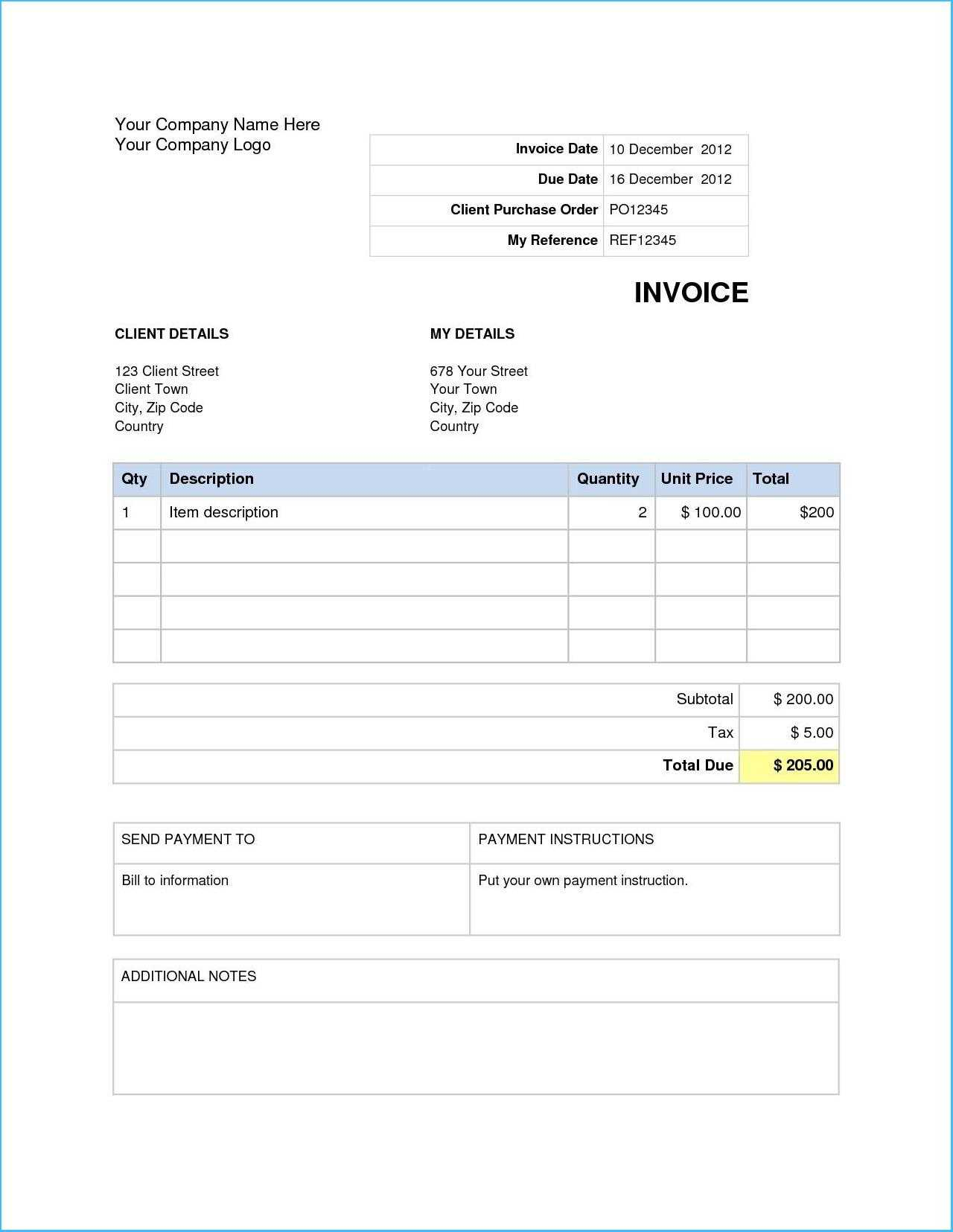 027 Word Invoice Min Template For Awful Ideas Free Uk with regard to Invoice Template Word 2010