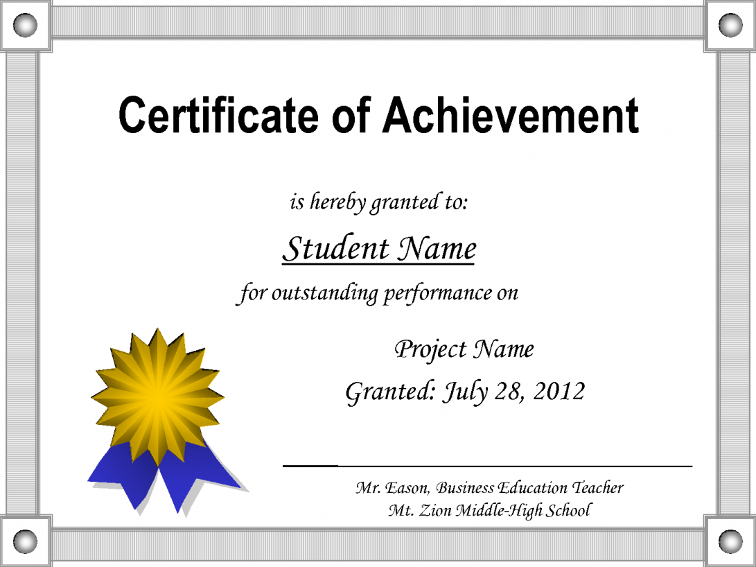029 Template Ideas Certificate Award Microsoft Word Of Pertaining To Congratulations Certificate Word Template