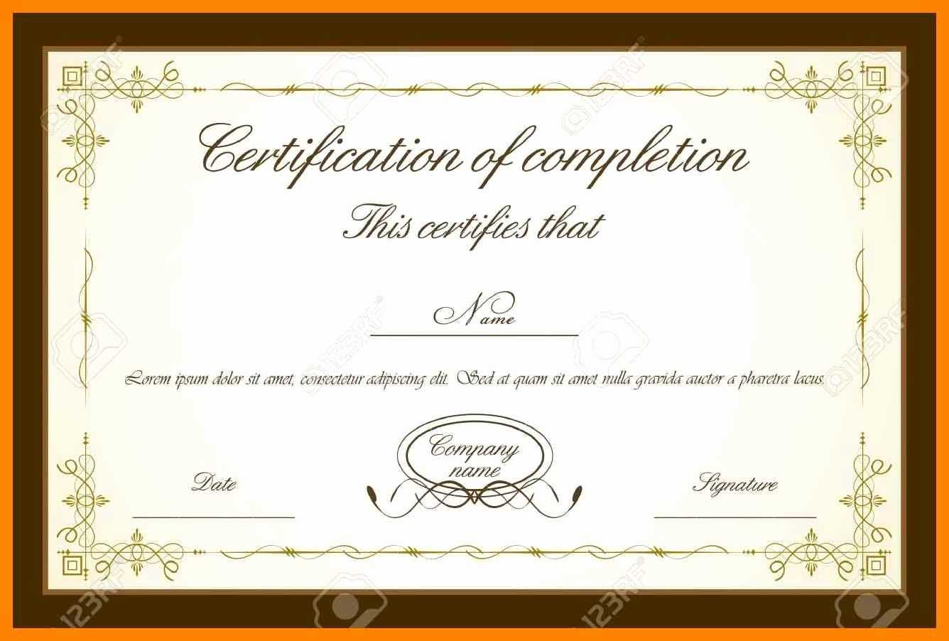 033 Template Ideas Training Certificate Free Download Best intended for Free Completion Certificate Templates For Word