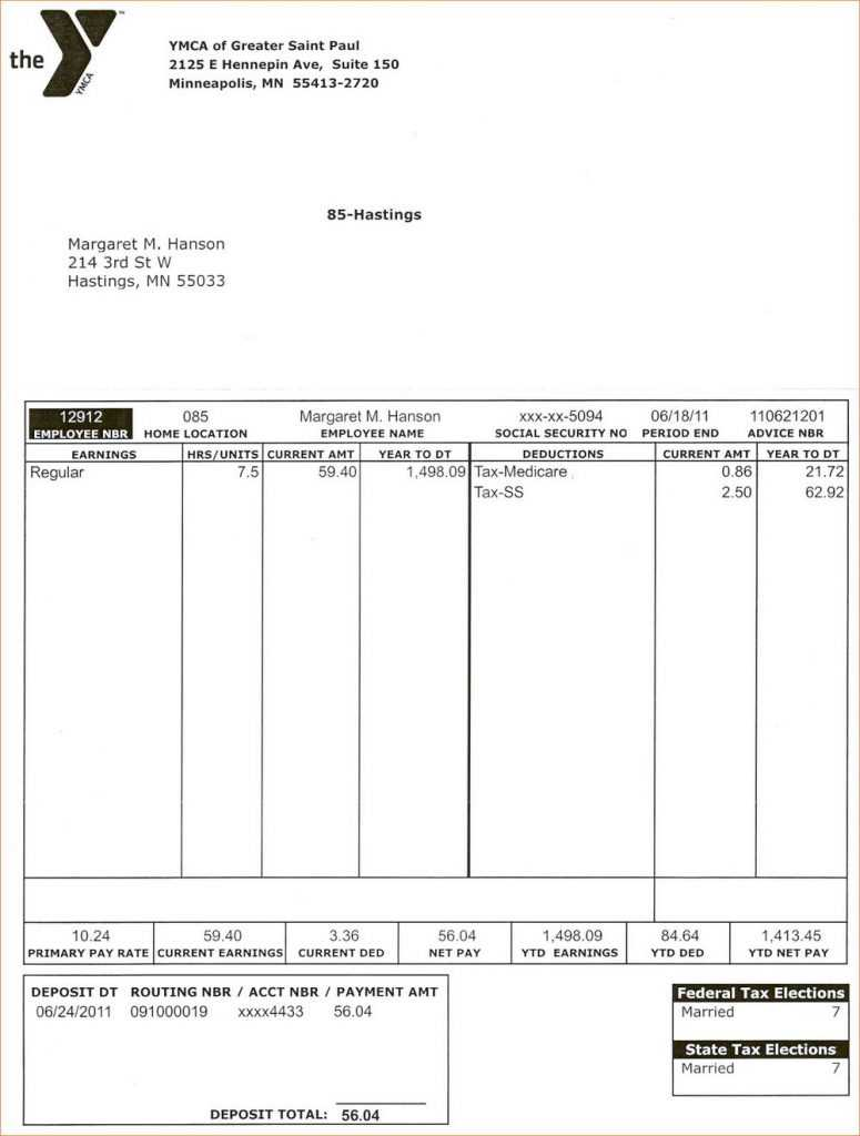 034 Template Ideas Free Paycheck Stub Pay Canada Formidable with regard to Free Pay Stub Template Word