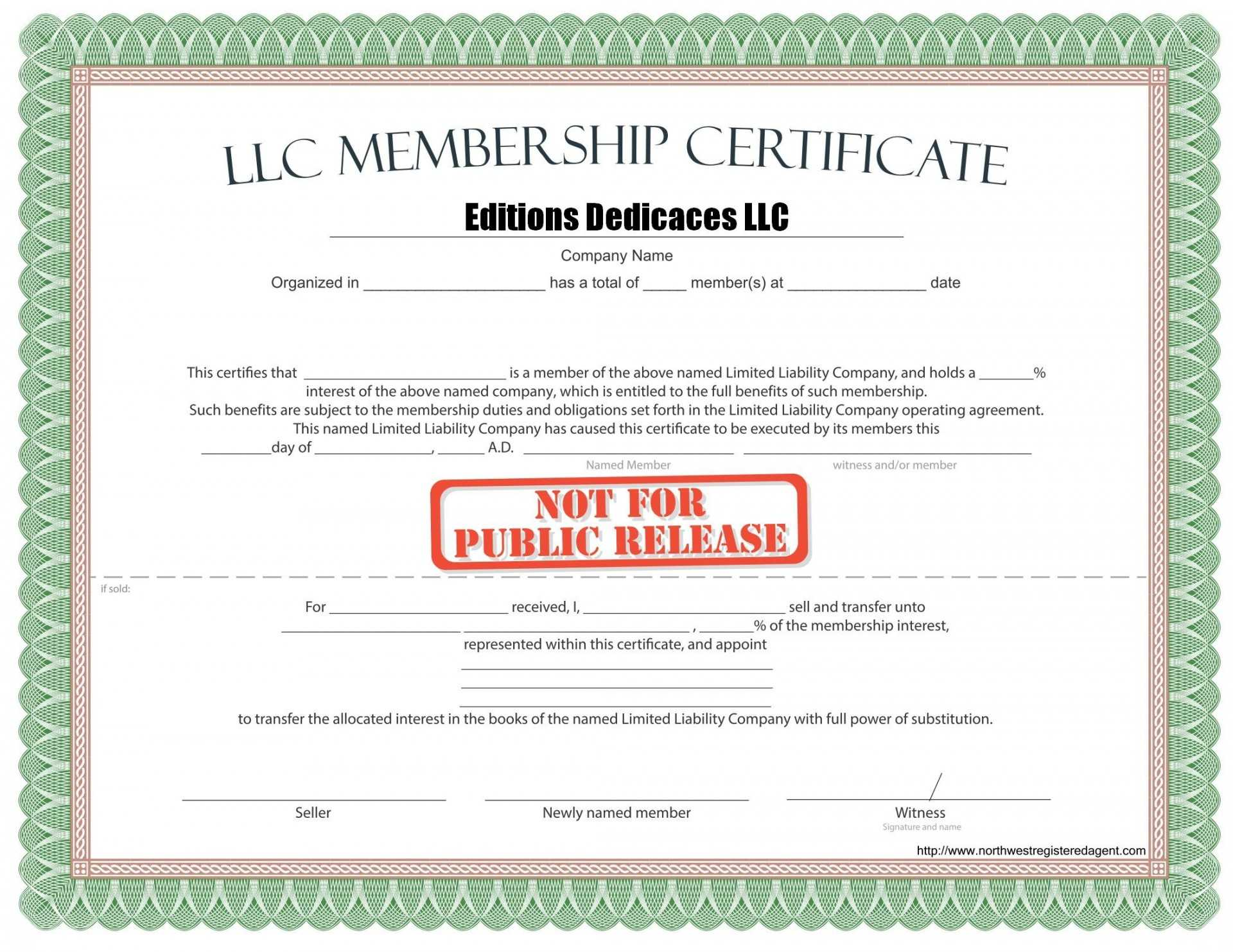 038 Llc Membership Certificate Template Best Solutions For Regarding Llc Membership Certificate Template Word