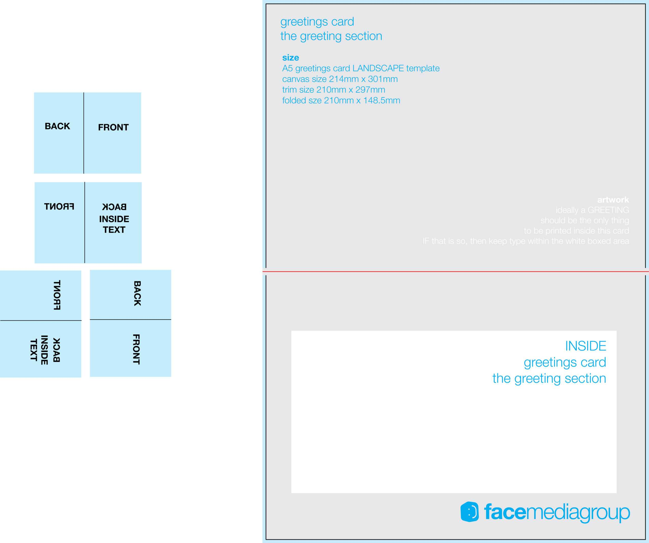 044 A5Card Land In Photoshop Greeting Card Template Psd for Birthday Card Template Indesign