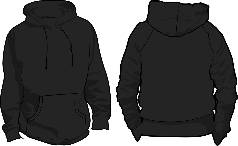 10 Pullover Hoodie Template Images - Black Blank Hoodie Pertaining To Blank Black Hoodie Template