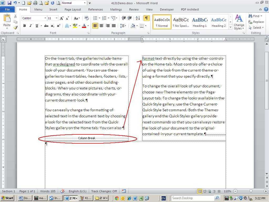 10 Tips For Working With Word Columns - Techrepublic for 3 Column Word Template