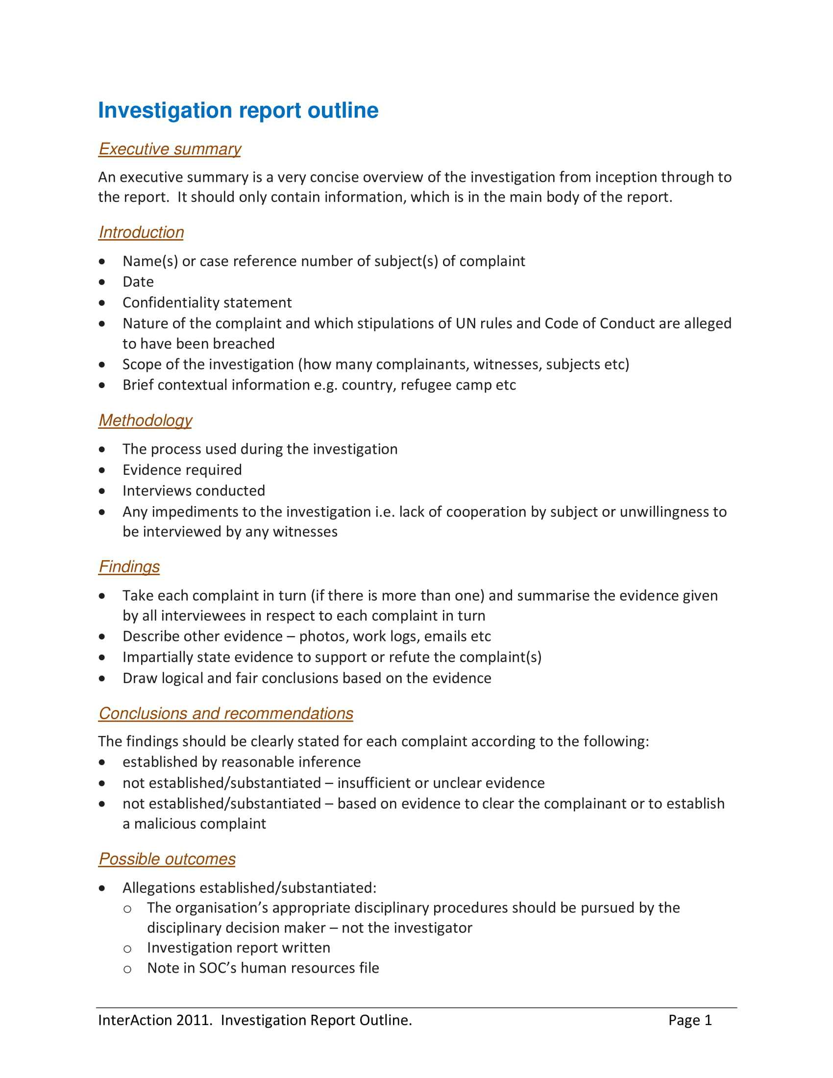 10+ Workplace Investigation Report Examples - Pdf | Examples In Workplace Investigation Report Template