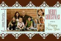 11 Free Templates For Christmas Photo Cards inside Free Christmas Card Templates For Photographers