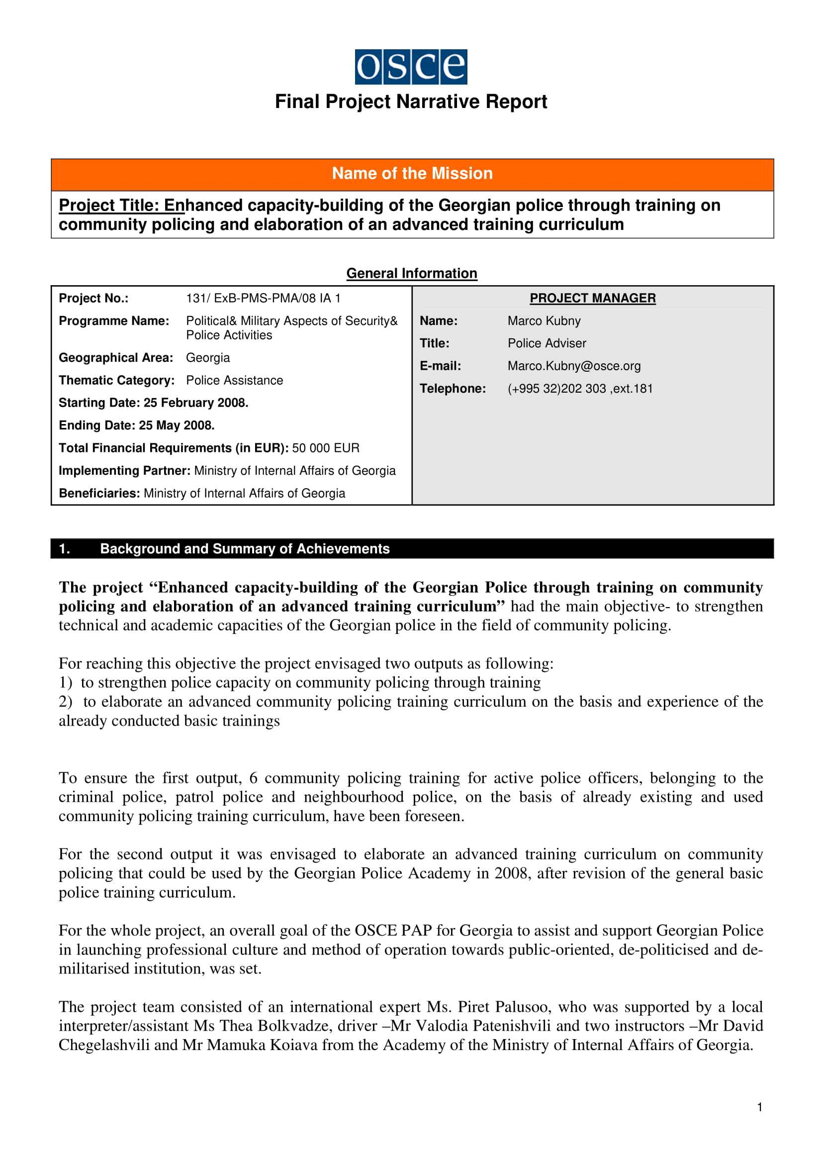 11+ Narrative Report Examples - Pdf | Examples for Training Report Template Format