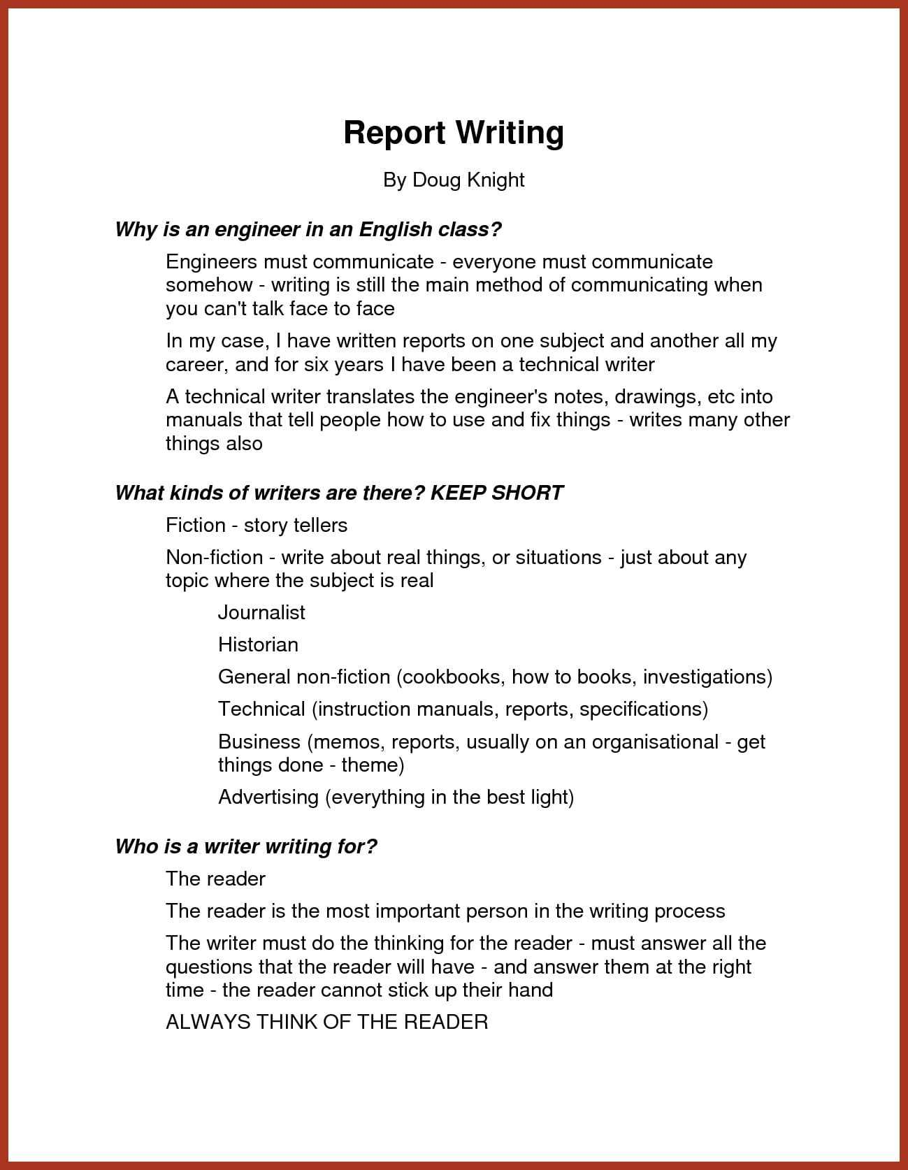 11+ Narrative Report Examples – Pdf | Examples Intended For Template On How To Write A Report