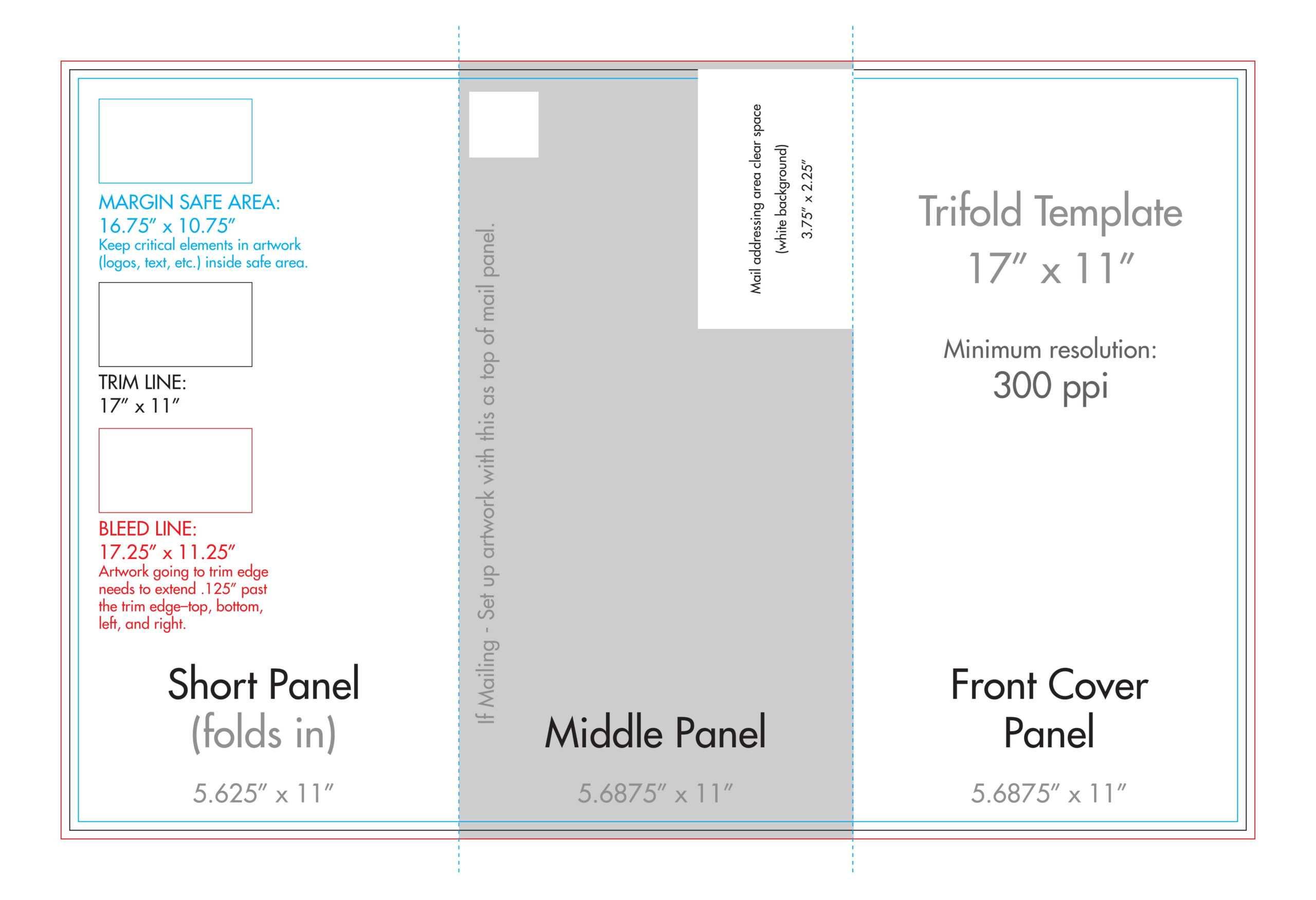 "11"" X 17"" Tri Fold Brochure Template - U.s. Press In 11X17 Brochure Template"
