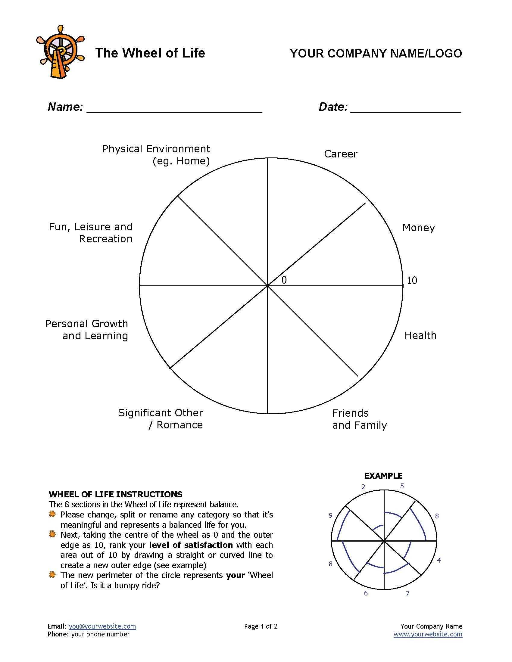 12 Awesome New Ways To Use The Wheel Of Life Tool In Your throughout Blank Wheel Of Life Template