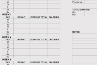 12+ Blank Workout Log Sheet Templates To Track Your Progress Throughout Blank Workout Schedule Template