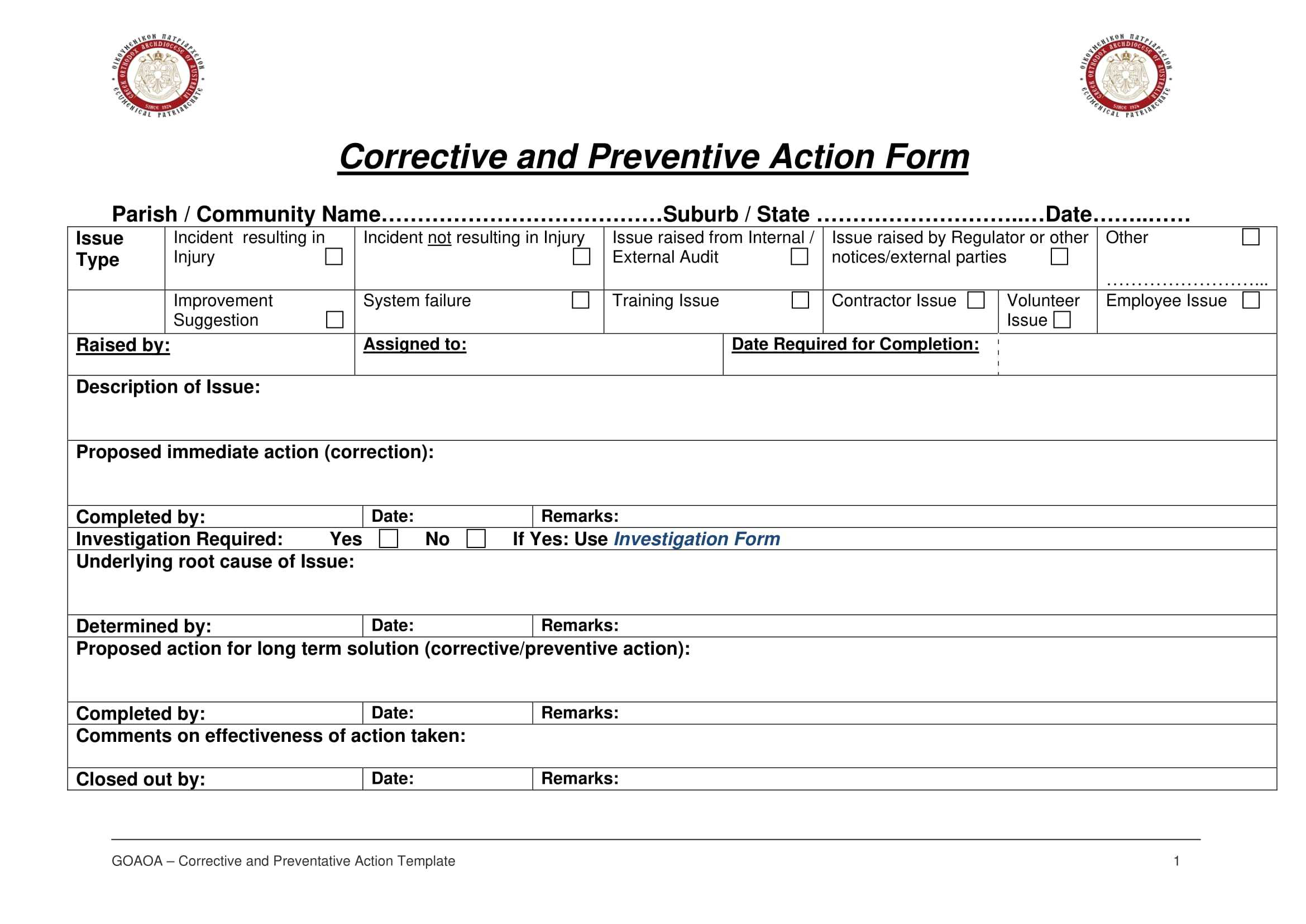 12+ Corrective Action Report Examples - Pdf | Examples with regard to Fracas Report Template