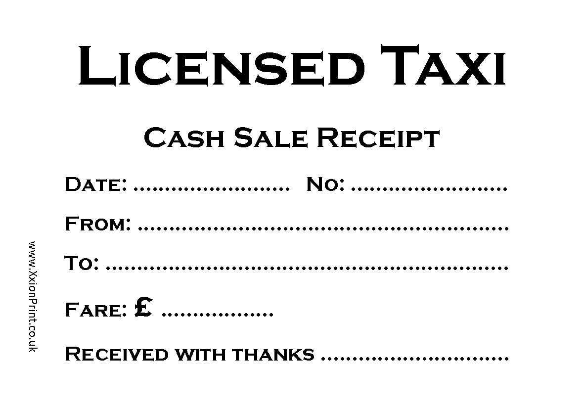 13 Best Photos Of Usa Taxi Cab Receipt Printable - Printable within Blank Taxi Receipt Template