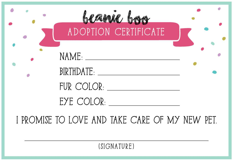 14+ Adoption Certificate Templates | Proto Politics for Toy Adoption Certificate Template
